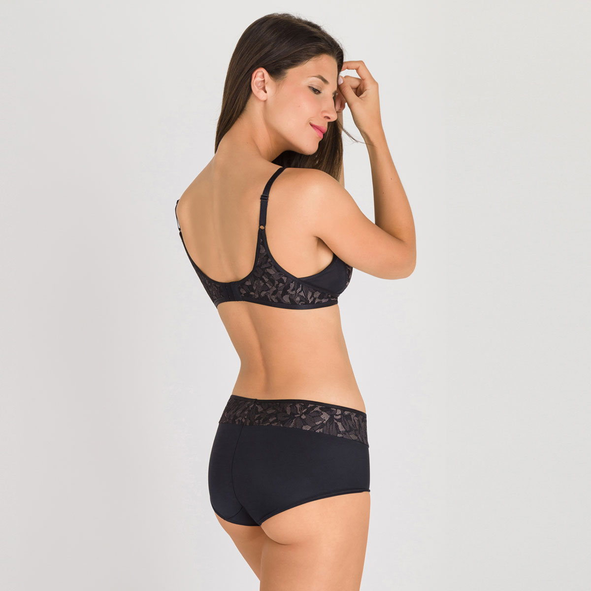Soutien-gorge sans armatures noir gris - Ideal Beauty Lace-PLAYTEX