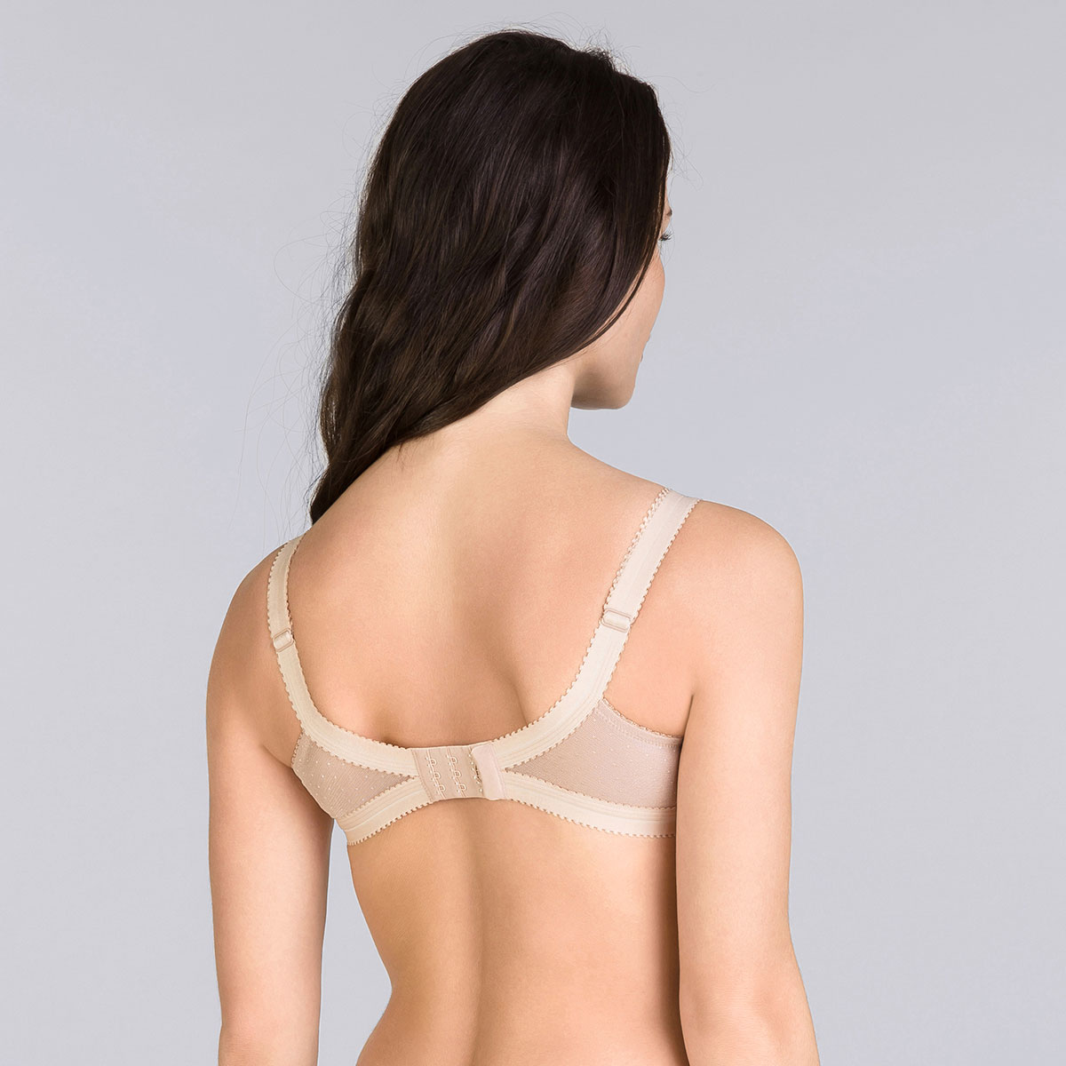 Beige Non-wired Bra - Cross your Heart Lace, , PLAYTEX