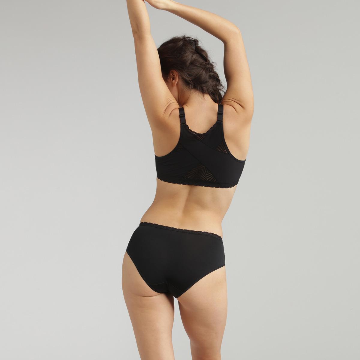 Braga de encaje midi negra Ideal Posture , , PLAYTEX