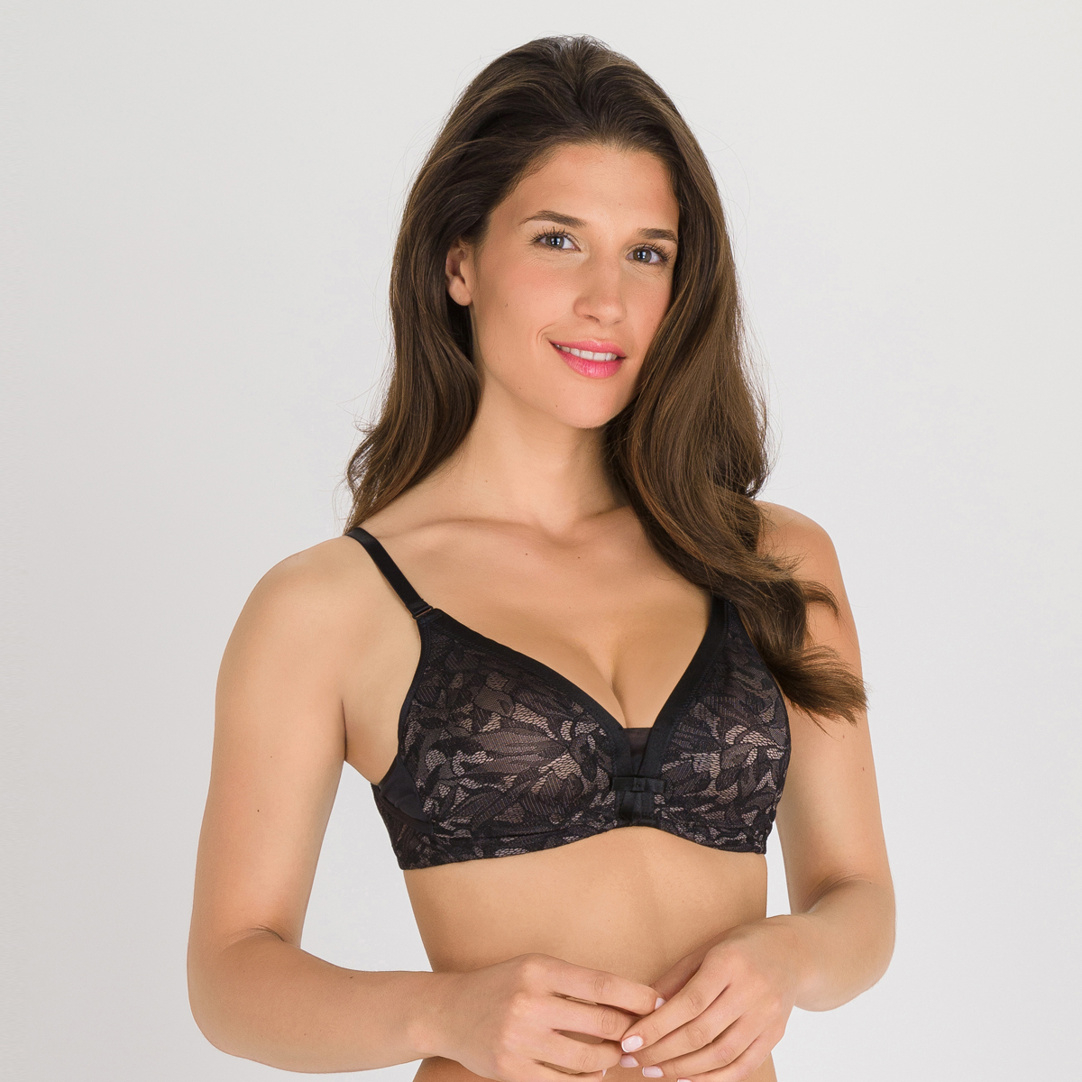 Sujetador con aros negro gris - Ideal Beauty Lace, , PLAYTEX