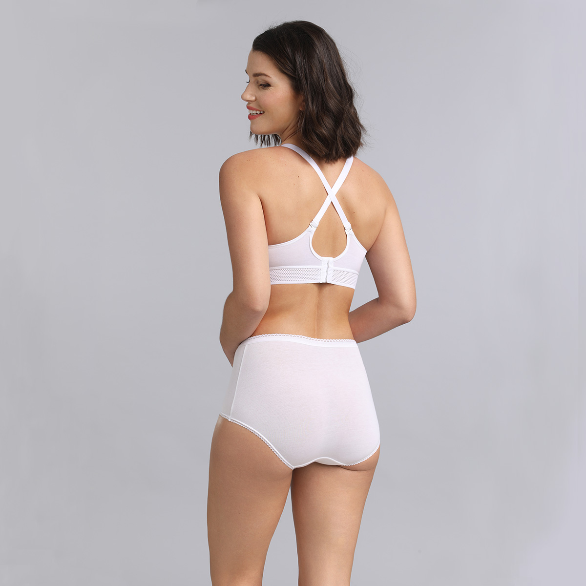 Soutien-gorge blanc sans armatures Feel Good Support, , PLAYTEX