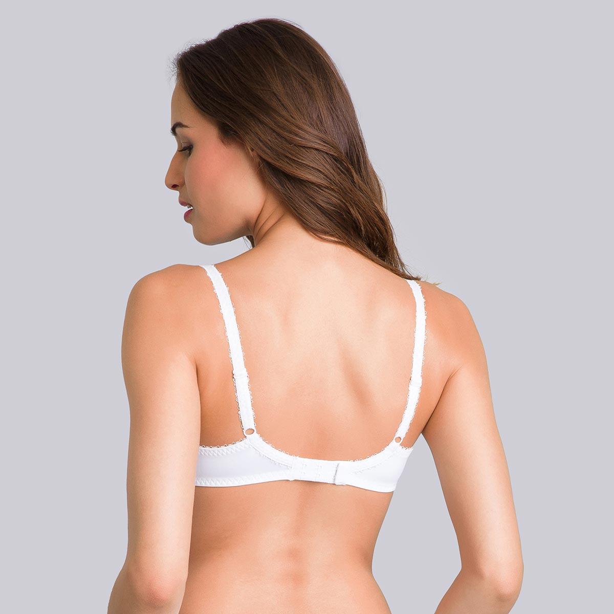 Pack of 2 black and white bras– Flower Elegance-PLAYTEX