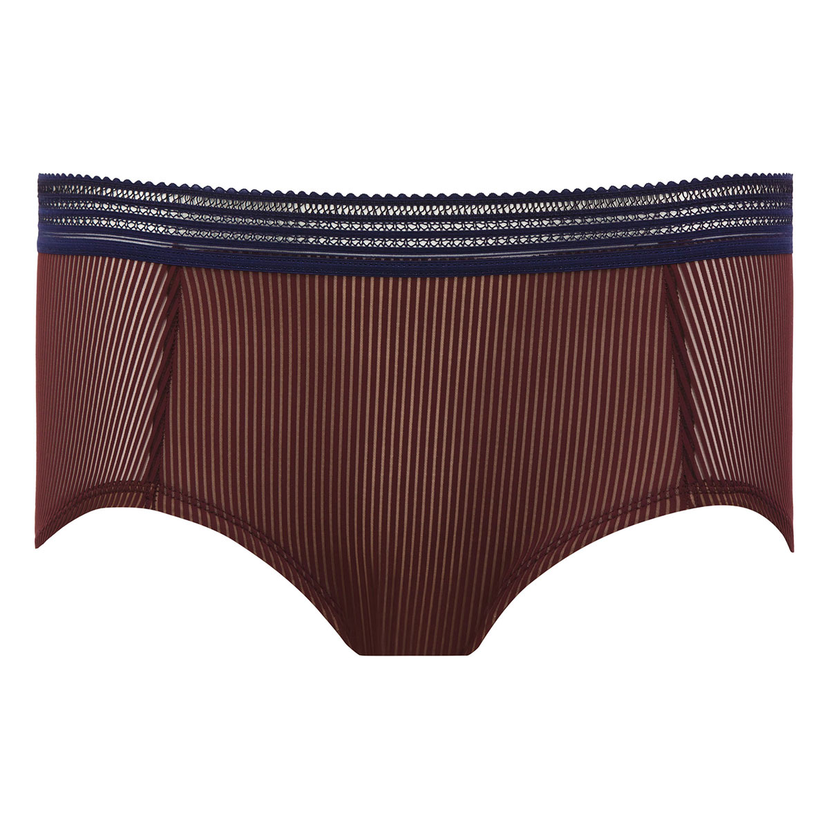 Burgundy & navy blue short - Smoking Chic-PLAYTEX