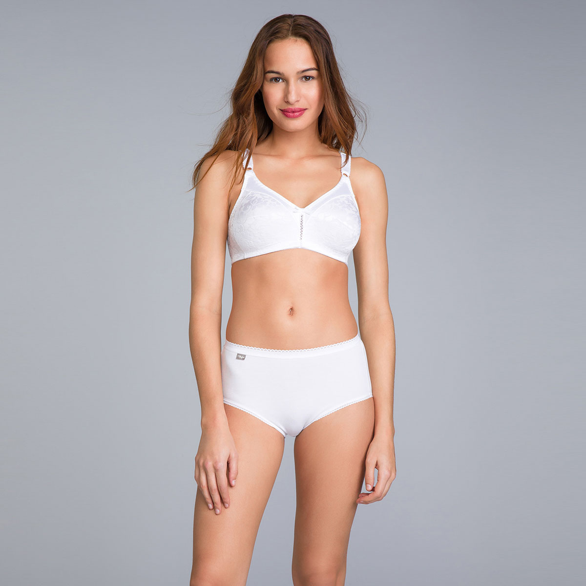 Non-Wired Full Cup Bra in White - Double Support-PLAYTEX