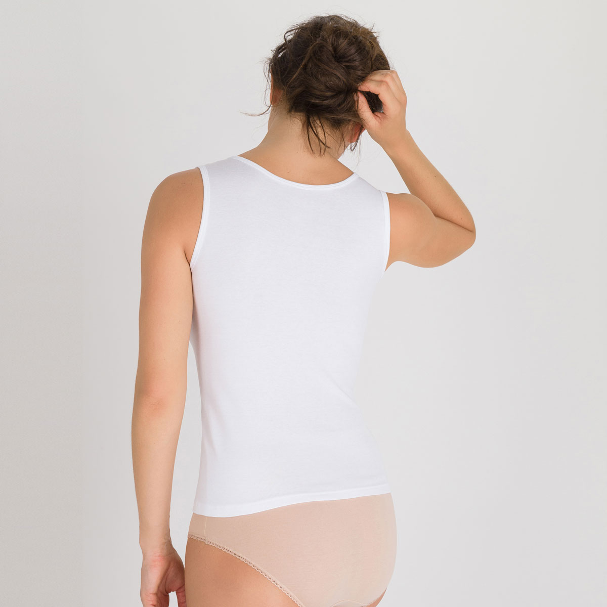 Tank top in White - Cotton Liberty-PLAYTEX