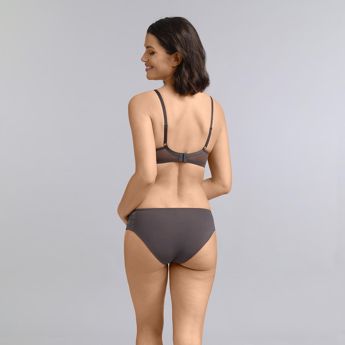 Culotte mini gris foncé Essential Elegance, , PLAYTEX