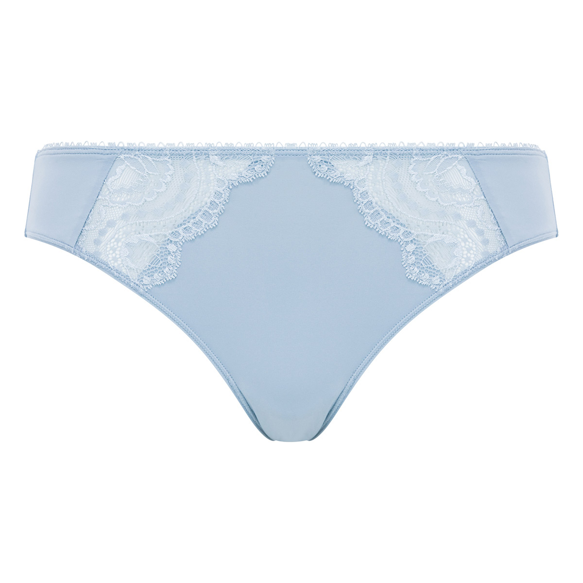 Bikini Knickers in Blue Fog Lace - Flower Elegance - PLAYTEX