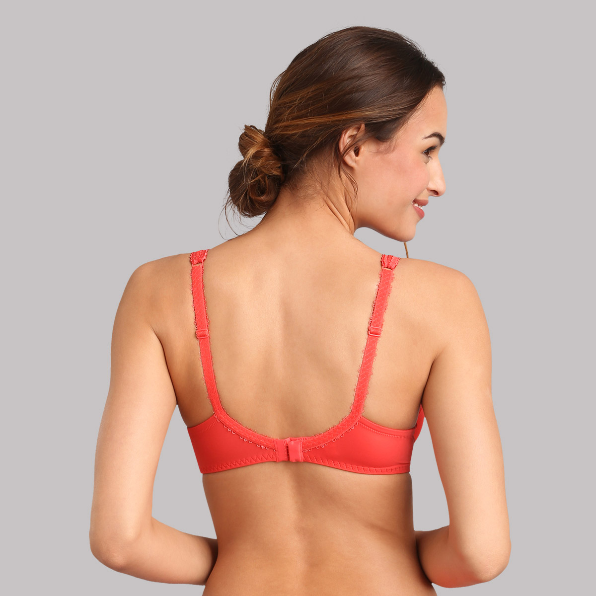 Underwired spacer bra in coral - Flower Elegance, , PLAYTEX