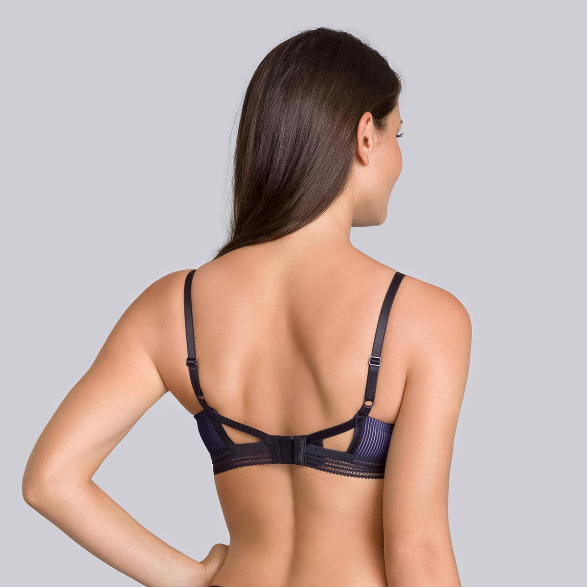 Navy blue & black Non-wired bra - Smoking Chic-PLAYTEX