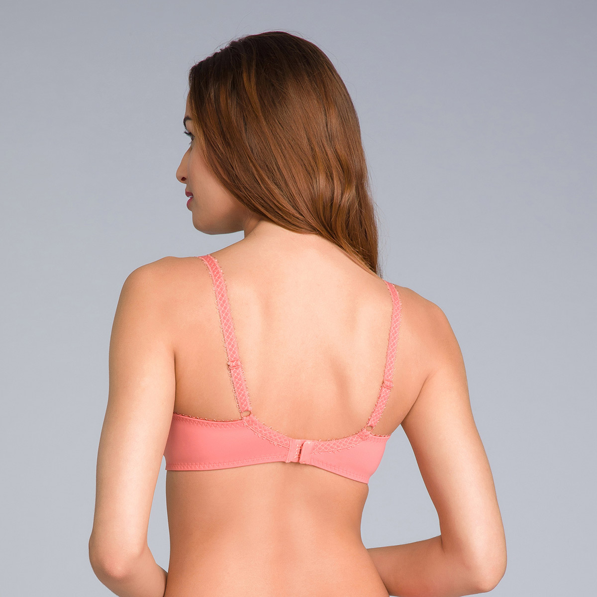 Balcony Lace Bra in Cinnamon Orange - Flower Elegance - PLAYTEX