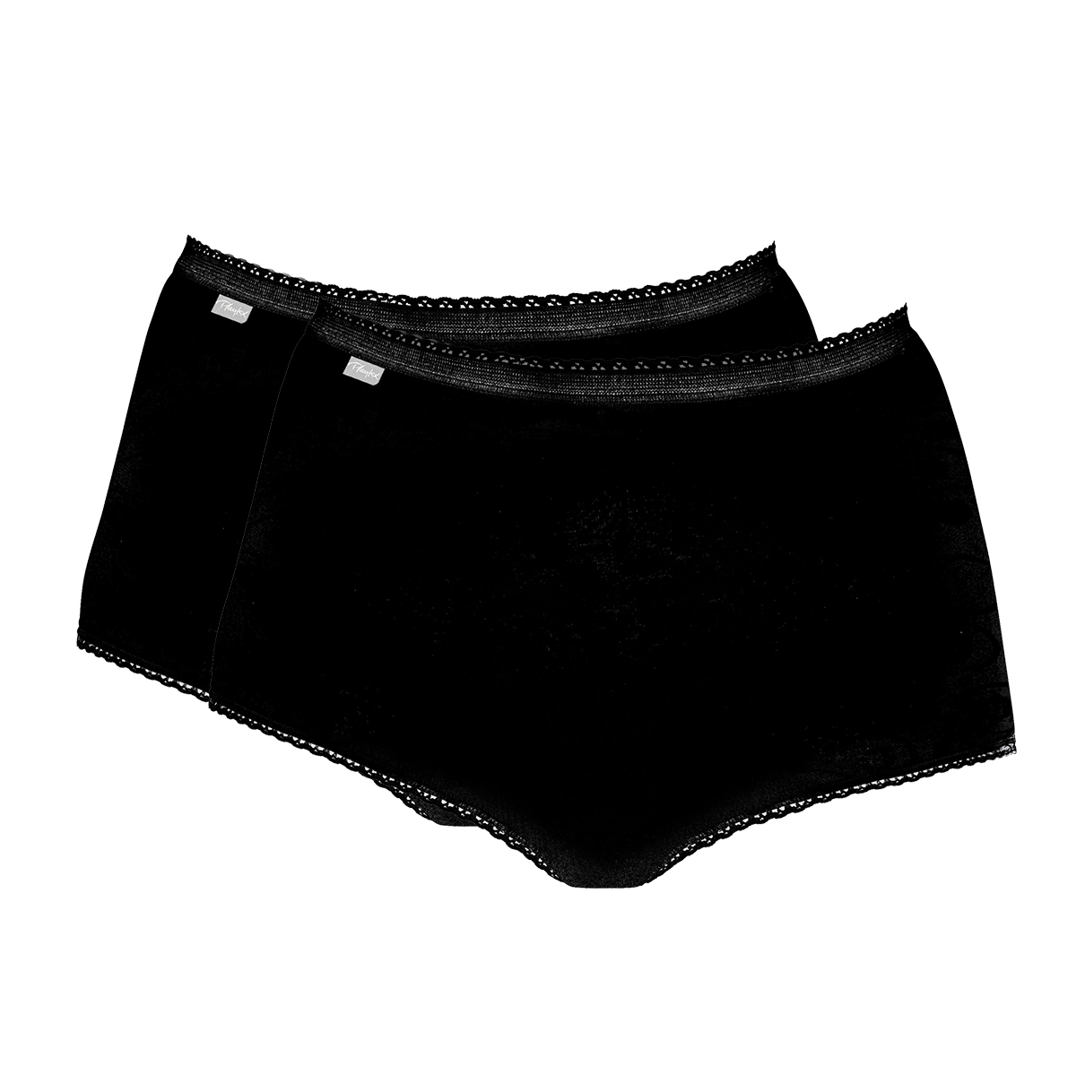 2 bragas maxi negras - Coton Stretch, , PLAYTEX