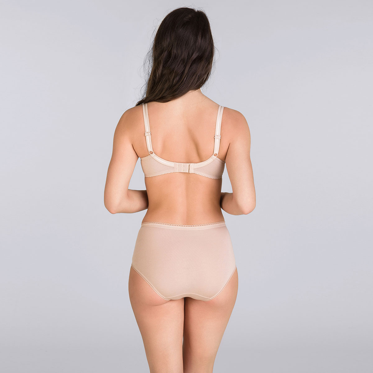 3 Pack high-rise knickers : white, black and beige - Cotton Stretch, , PLAYTEX