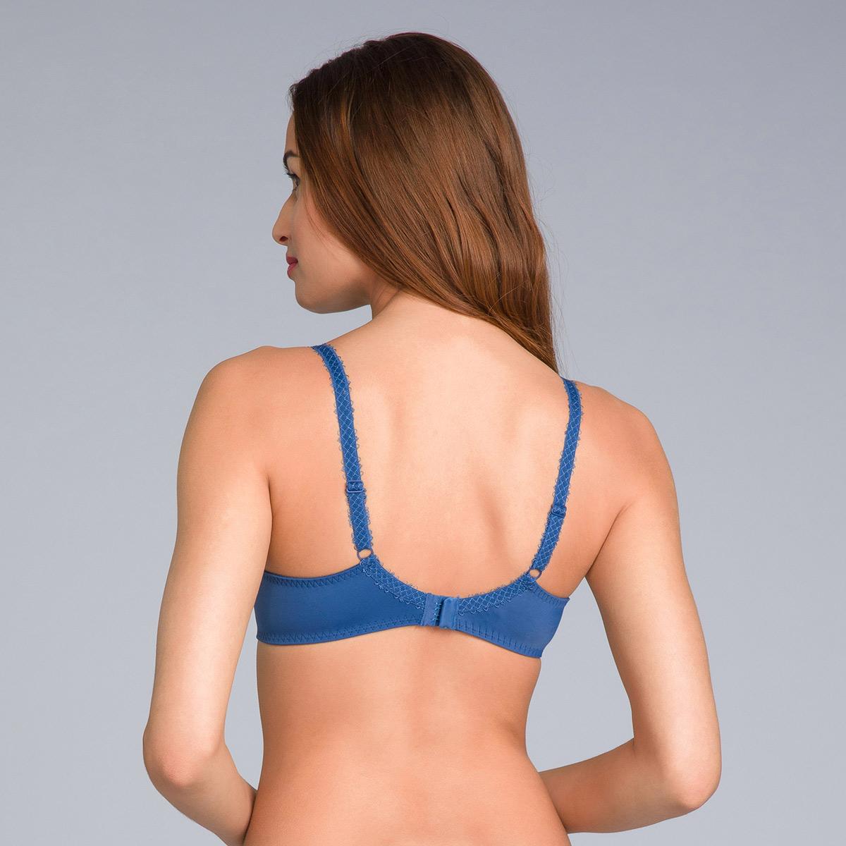 Soutien-gorge emboîtant bleu marine imprimé - Flower Elegance Micro, , PLAYTEX