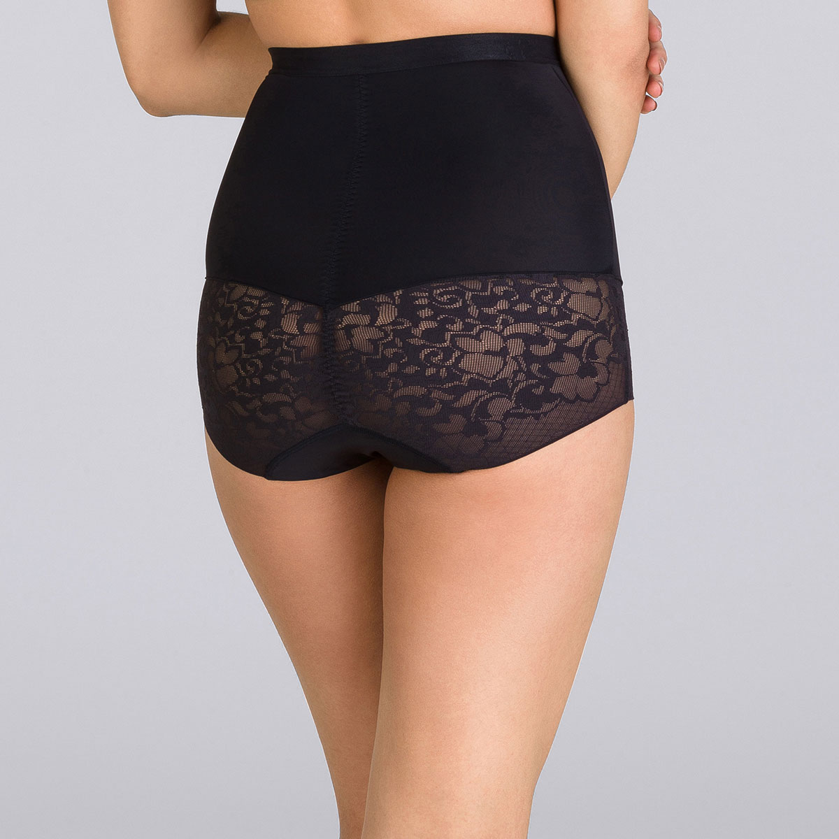 Black high-waisted girdle - Expert in Silhouette-PLAYTEX