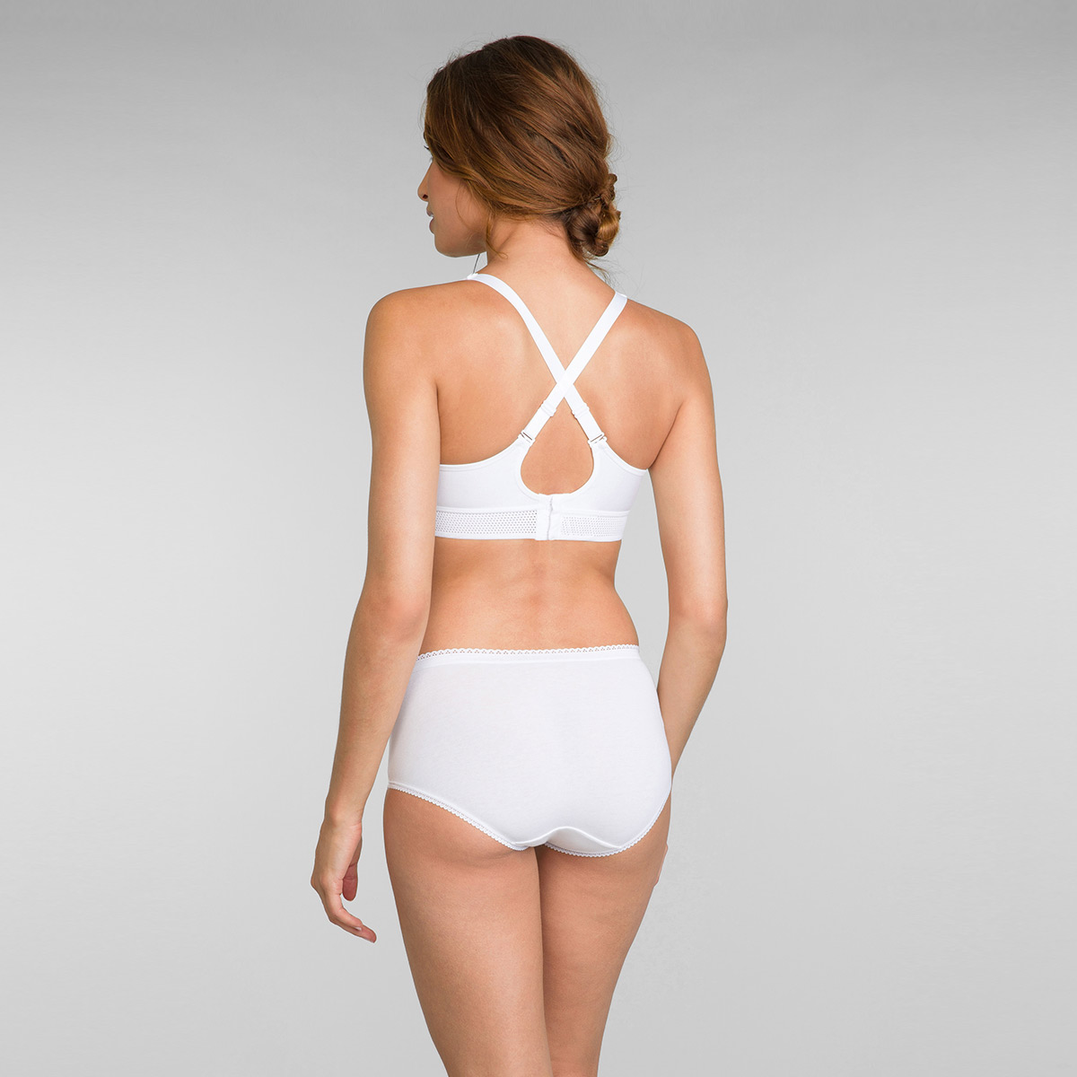 Sujetador de algodón blanco Feel Good Support Algodón, , PLAYTEX