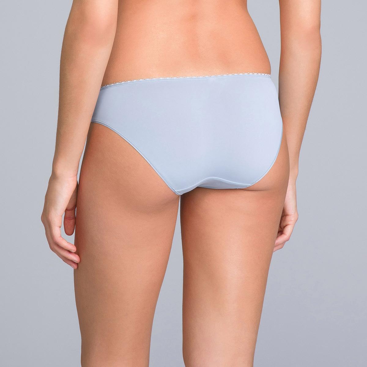 Bikini Knickers in Lace & Microfibre Blue Fog Print - Flower Elegance - PLAYTEX