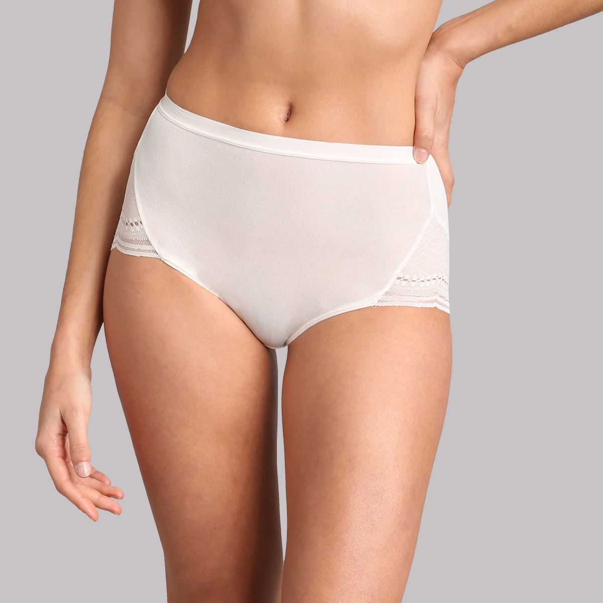 Braga maxi de encaje de color marfil Secret Comfort, , PLAYTEX