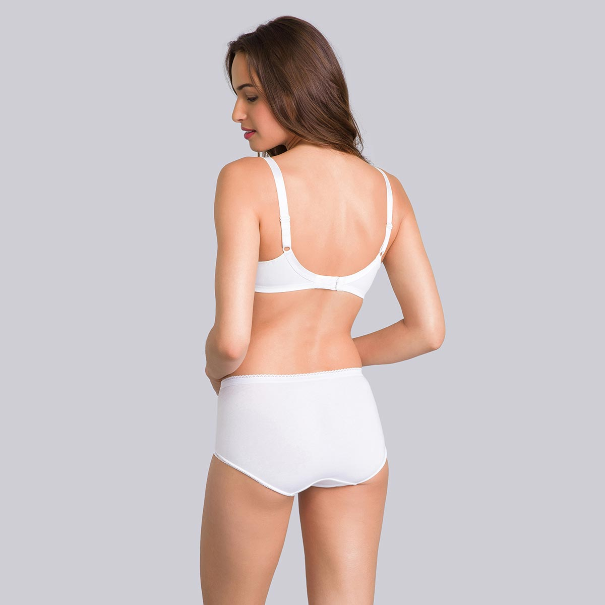 Non-wired embroidered bra in white – Cross Your Heart Modern Tricot, , PLAYTEX