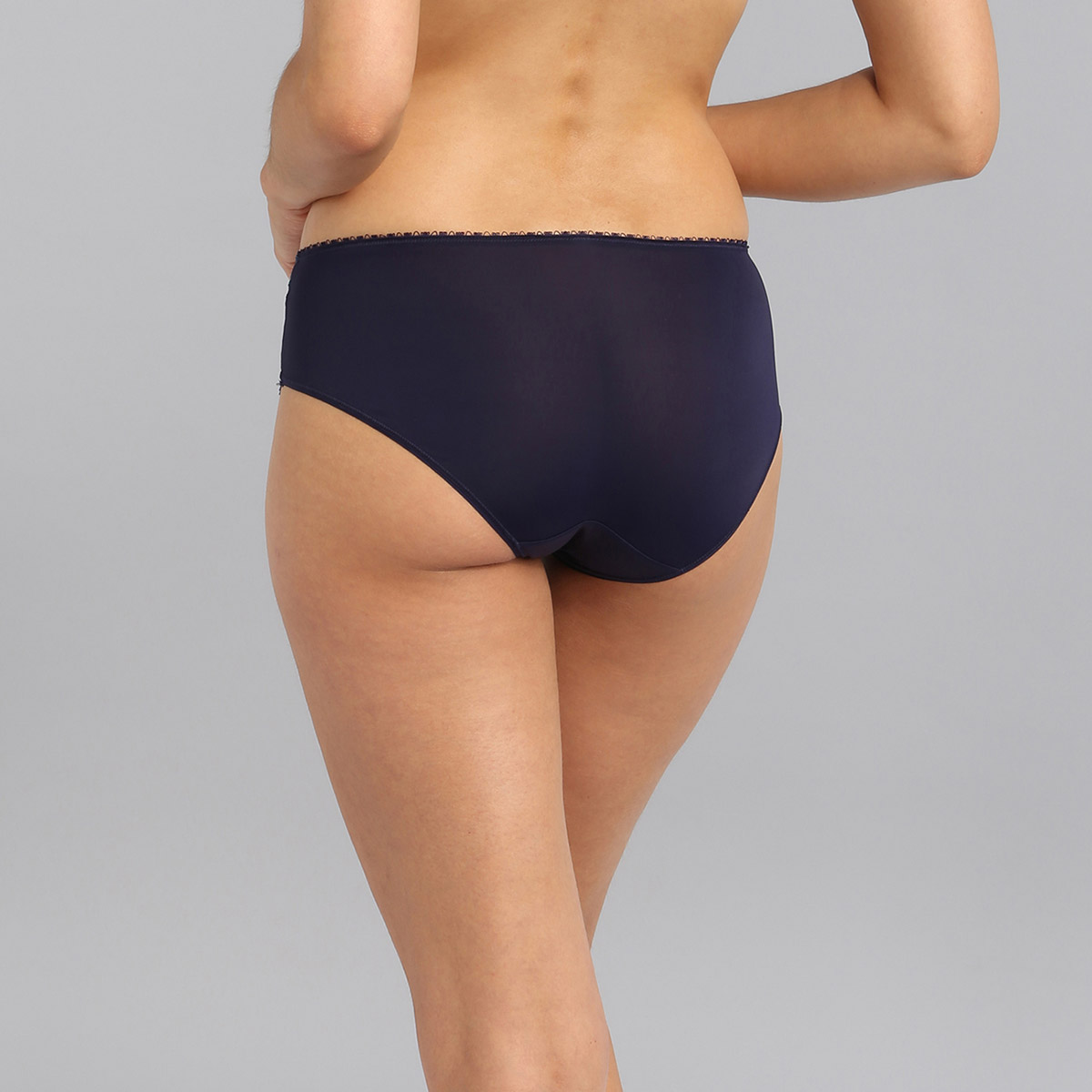 Midi knickers in navy Flower Elegance, , PLAYTEX