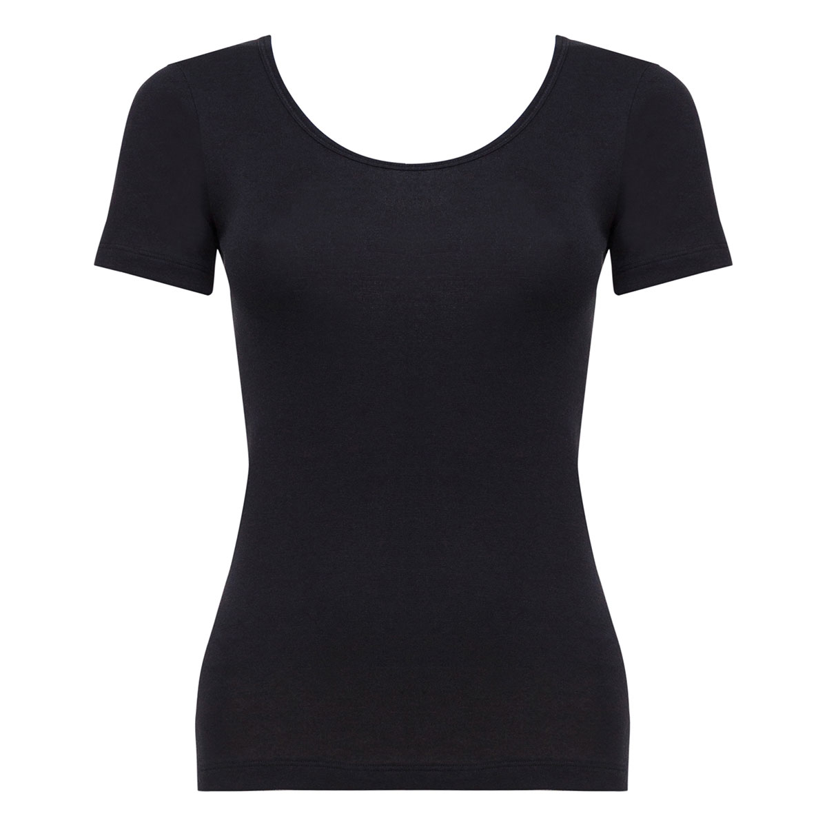 Short Sleeve Top in Black - Cotton Liberty-PLAYTEX
