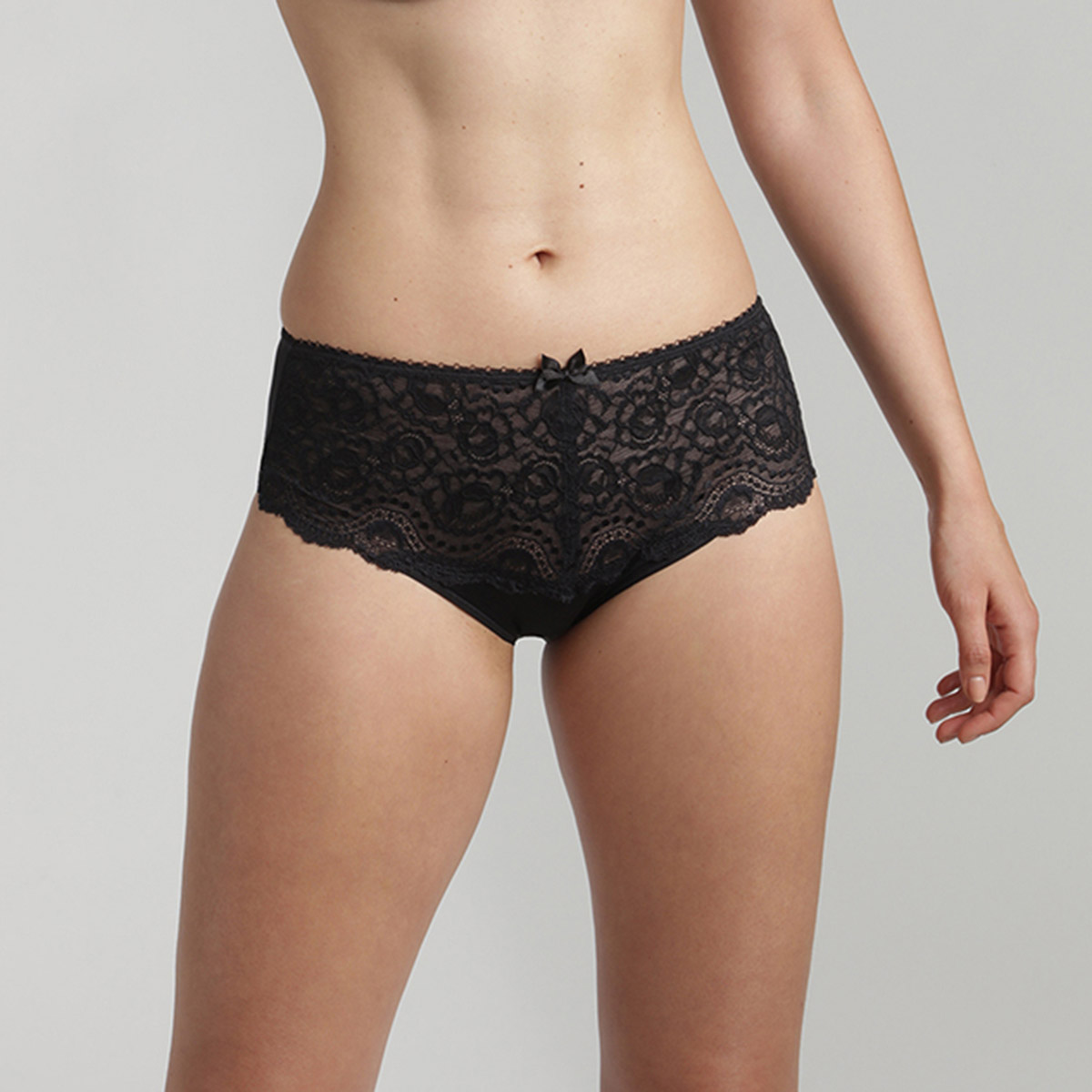 Midi knickers in Black – Flower Elegance, , PLAYTEX