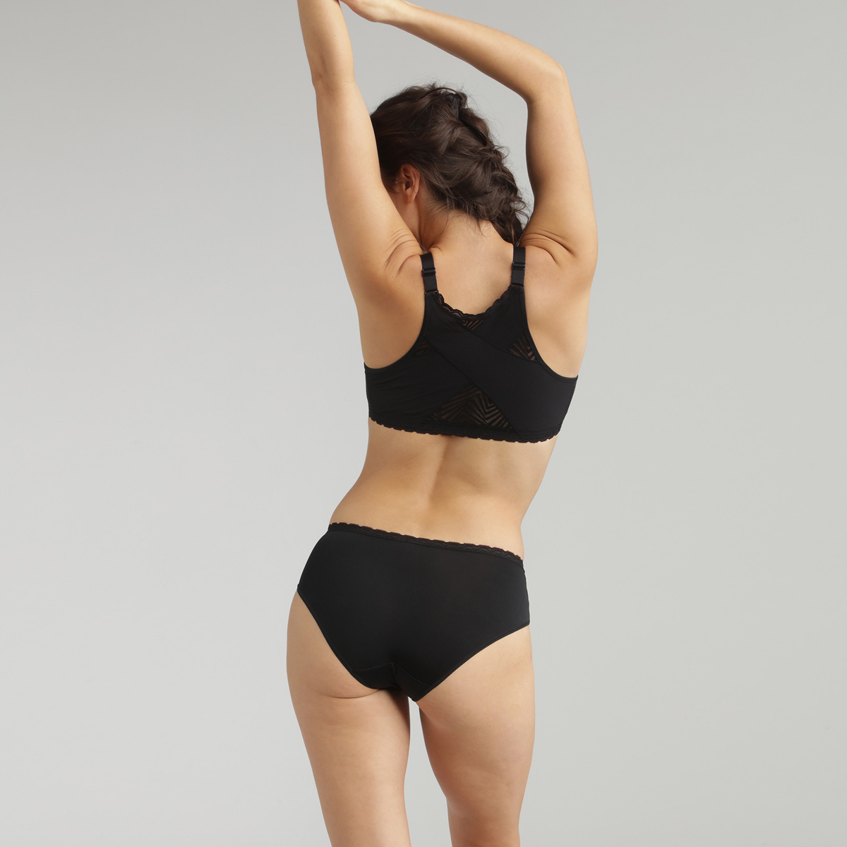 Braga midi negra Ideal Posture , , PLAYTEX