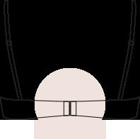 Cerrar los broches del sujetador