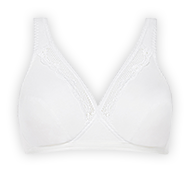 Non-wired full cup bra 91% cotton