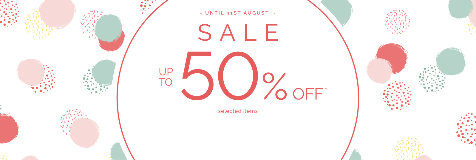 Sale - Up to 50%off* selected items