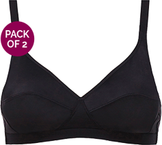 Basic non-wired full cup bra