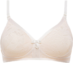Non-wired Full Cup Bra in White Blush