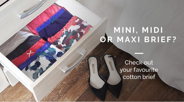 Mini, midi or maxi brief? - check out your favourite cotton brief