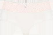 Shorty in white blush