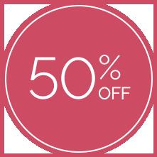 50% off