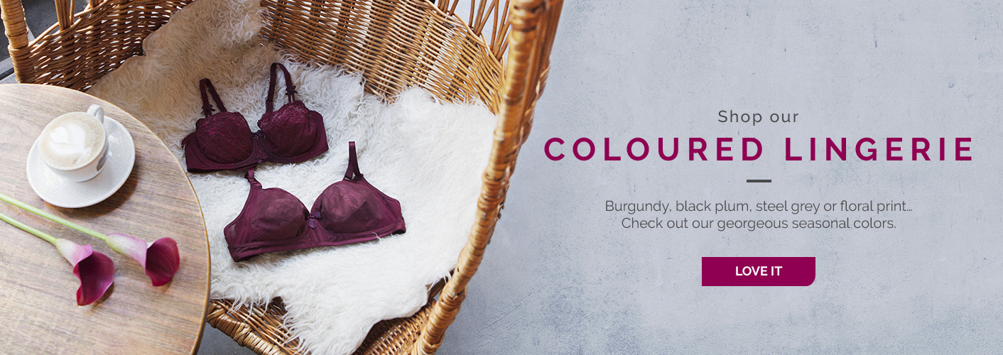Shop our coloured lingerie colorée
