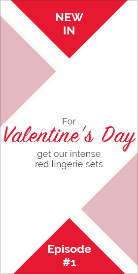 For Valentine's Day, get our intense red lingerie sets