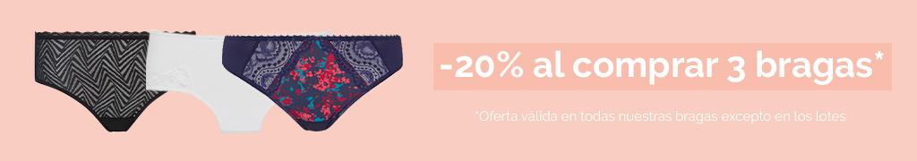 3 bragas = -20%
