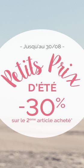 -30% sur le 2ème article acheté PLAYTEX