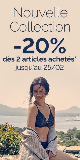 -20% dès 50€ d'achat* jusqu'au 25 février